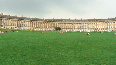 Houses of the Royal Crescent in Bath, England Live Action