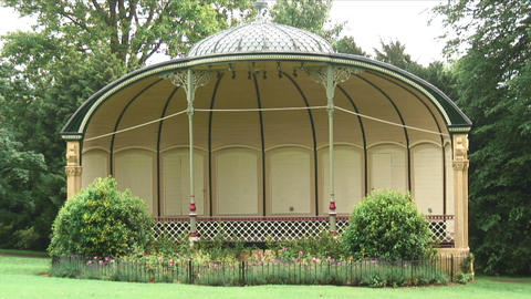 Shot of a gazebo in England Live Action