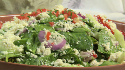 Shot of a delicious looking salad bar Footage