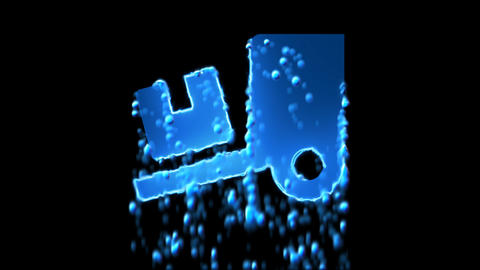 Liquid symbol truck loading appears with water droplets. Then dissolves with Animation