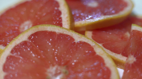 Rotating Fresh Grapefruit Stock Video Footage