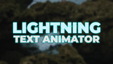 Lightning Text Animator Presets Premiere Pro Template
