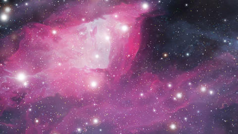 Descending into nebula Stock Video Footage