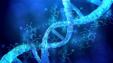 Abstract Helix DNA spinning around its axis CG動画素材