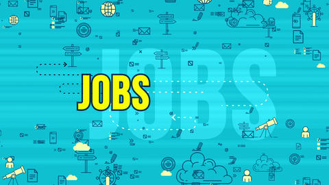 Jolly yellow job design symbol moving Animation