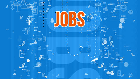 Hilarious orange job design sign jumping Animation