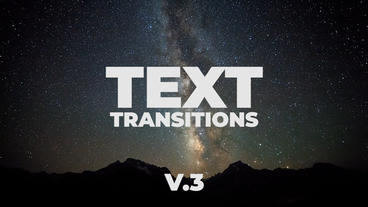 Universal Text Transitions Presets V 3 Premiere Pro Template