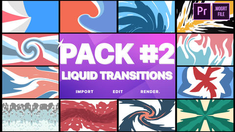 Liquid Transitions Pack 02 Motion Graphics Template