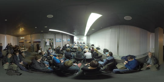 360 VR Press conference at Sheremetyevo Airport, Moscow Footage