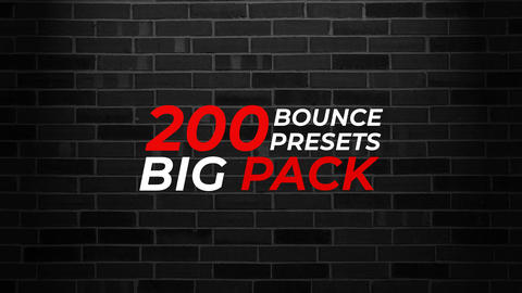 200 Bounce Text Animation Presets Big Pack After Effects Animation Preset