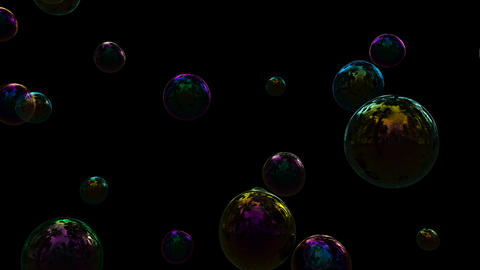 Soap Bubble with separate alpha CG動画素材