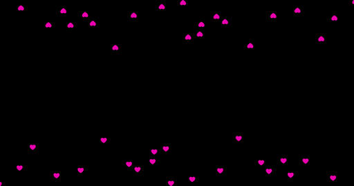 A group of generic Facebook-style love emotion icons travel across the bottom Footage