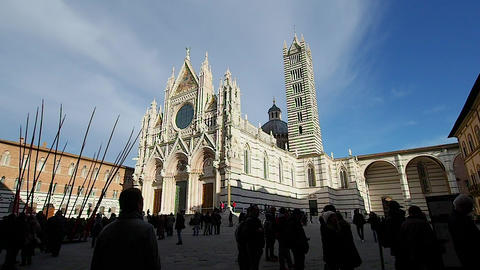Fade out of the Duomo of Siena in 4k 영상물