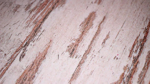 Wood wooden floor desk table old white antique flooring closeup texture pattern Footage