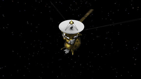 3D model animation of Cassini, satellite Saturn mission . Elements of this image Animation