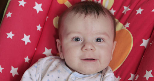 Baby is happy in the cradle Footage