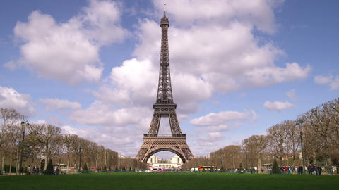Eiffel tower with clouds in the background Live Action