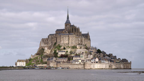 Mont Saint Michel castle and monastery Footage
