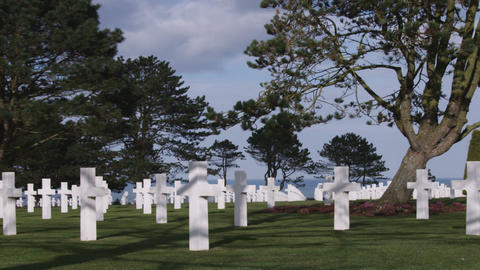 American military cemetery in Normandy France Footage