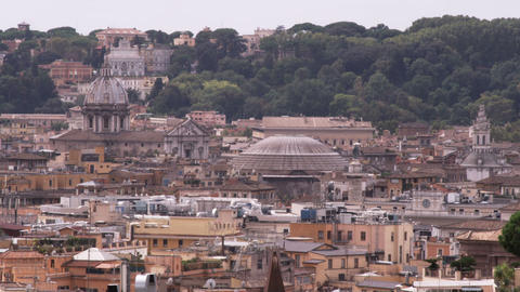 Rooftops of Rome Italy Footage