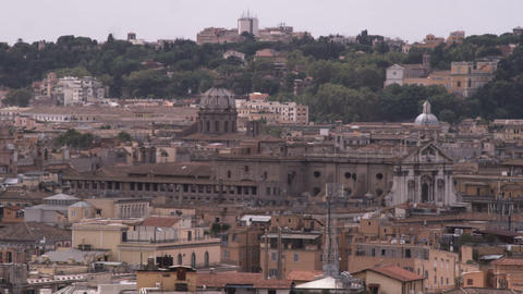 Shot of the rooftops of Rome Italy Footage