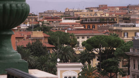 Rome Italy rooftops cityscape Footage
