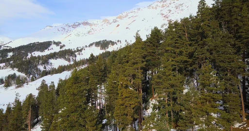 Beautiful morning panorama on mountains Footage
