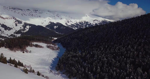 Beautiful morning panorama on mountains Stock Video Footage