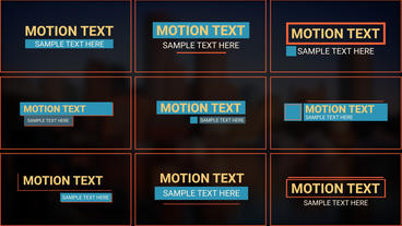 Animated Text Motion Graphics Template
