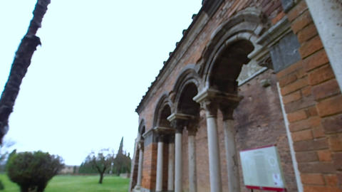 Fade in the abbey of San Galgano in 4k Live Action