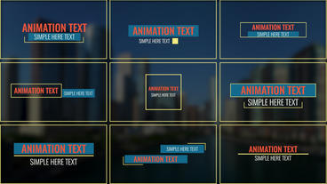 Animation Titles Pack Motion Graphics Template