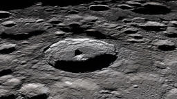 Camera flies around a craters in the Moon. Elements of this image furnished by Animation