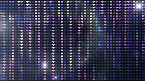 Glitter Back heart line Blue Flash 4k Stock Video Footage
