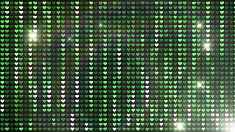Glitter Back heart line Green Flash 4k Animation