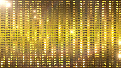 Glitter Back heart line Gold1 Flash Animation