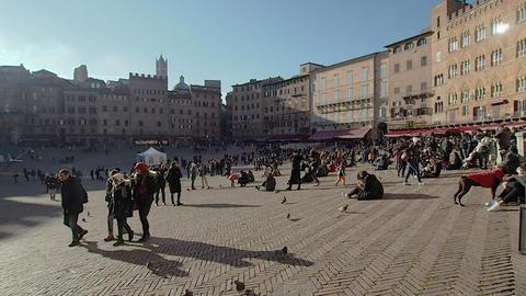 Piazza del Campo in 4k Live Action