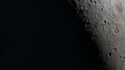 Camera flies around a craters in the Moon finishing in... Stock Video Footage