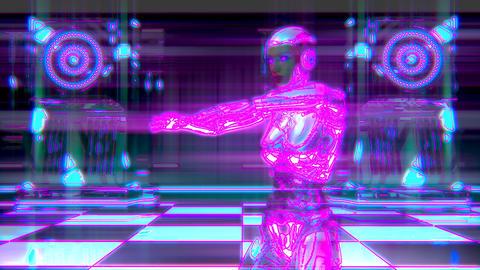 Dancing Female Robot Cyberclub Animation 1 GIF