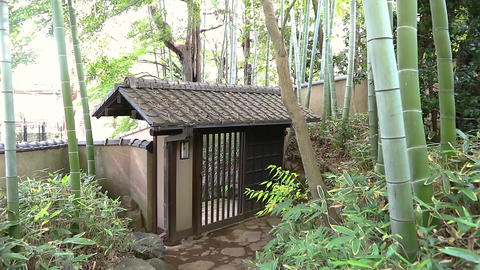 japanese traditional house gate 영상물