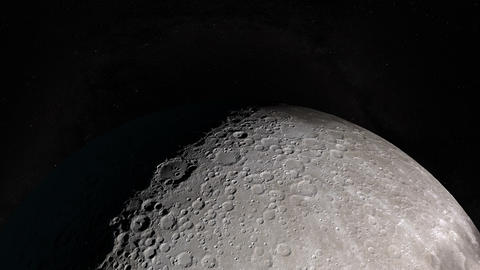 Camera flies around a Tycho crater in the Moon. Elements of this image furnished Animation