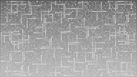 Abstract flashing dots across grey background. Loopable motion background Footage