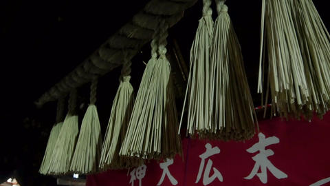 Japanese temple decorations Footage