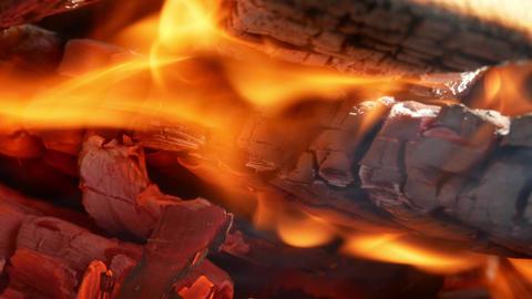 Fire Close up flame burn 4k Footage
