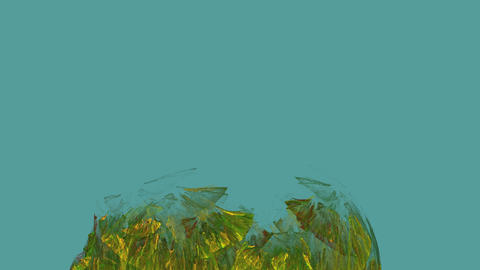 Algae Abstract in Undercurrent Stock Video Footage