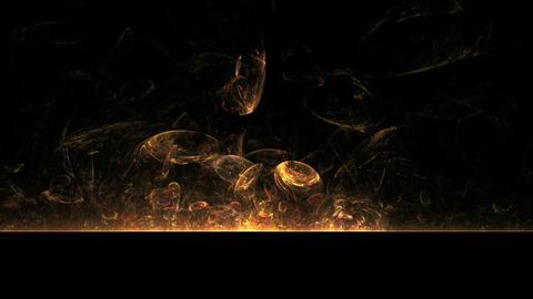 Fire Balls on Black Animation