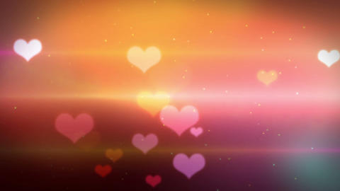 heart bokeh HD loopable Stock Video Footage