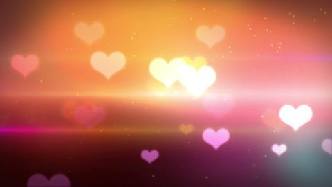 heart bokeh HD loopable Stock Video Footage
