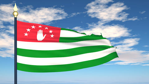 Flag Of Abkhazia Animation