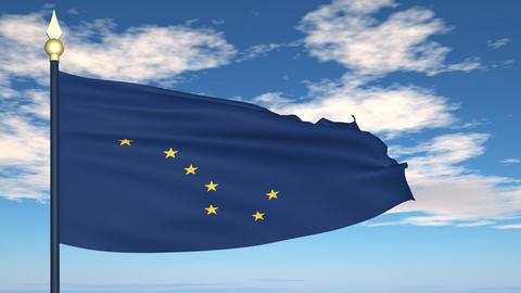 Flag of the state of Alaska USA Stock Video Footage