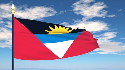 Flag Of Antigua and Barbuda Animation